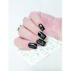 NAIL ART STICKERS SILVER...