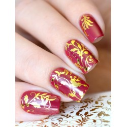 NAIL ART STICKERS GOLD FLOWERS