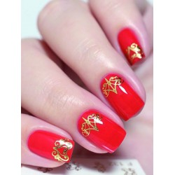 NAIL ART STICKERS. GOLD...